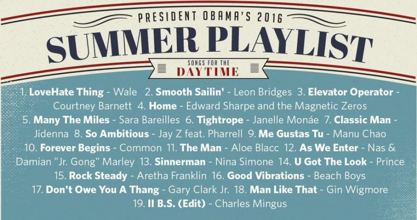 President Obama's 2016 Summer Playlists
