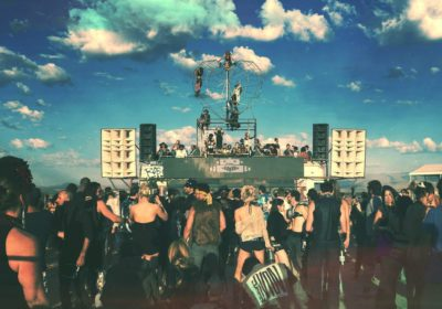 Prepping for Burning Man: 10 Sets from the Robot Heart Bus of 2015